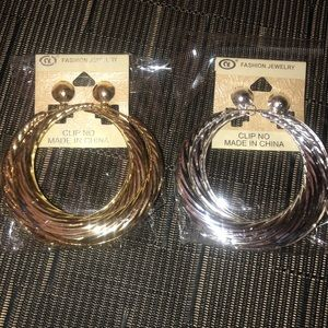 Large hoop earrings (clip on)
